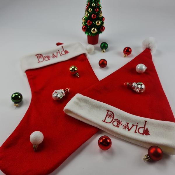 Kerst en sok met naam david2