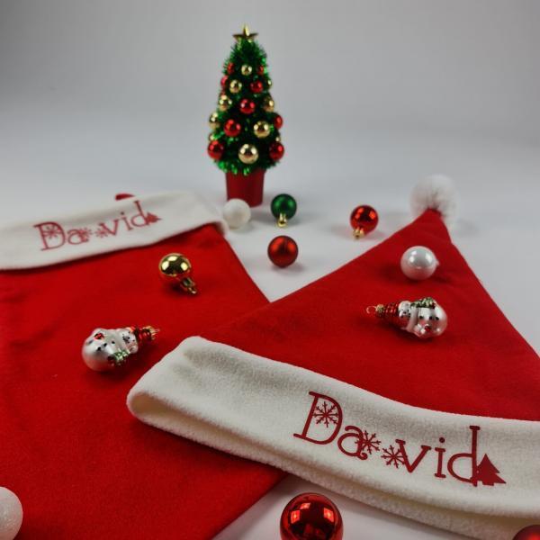 Kerst en sok met naam david3