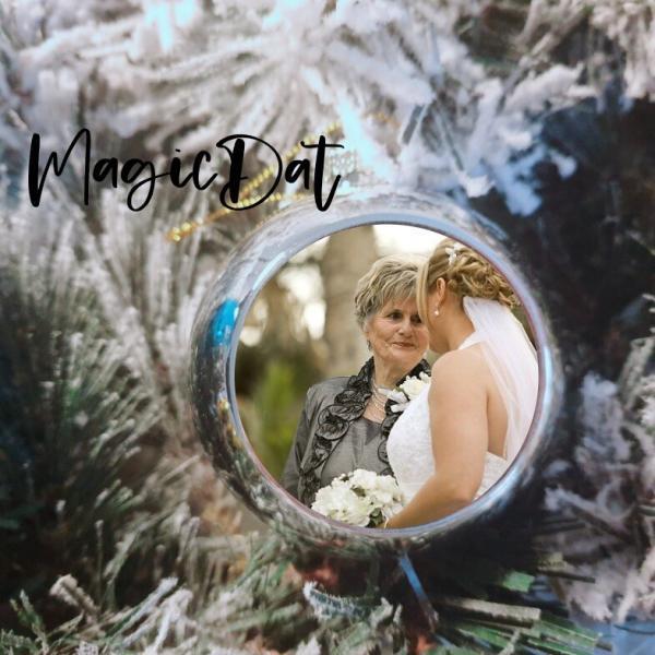Kerstbal met foto MagicDat bruid