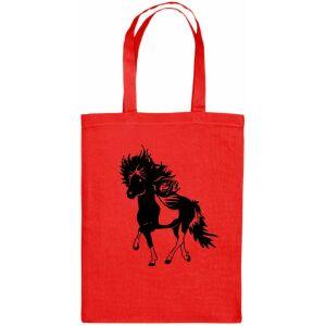 Rode tas met bonte paard