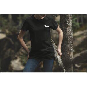 Tshirt zwart Ijslandse paard