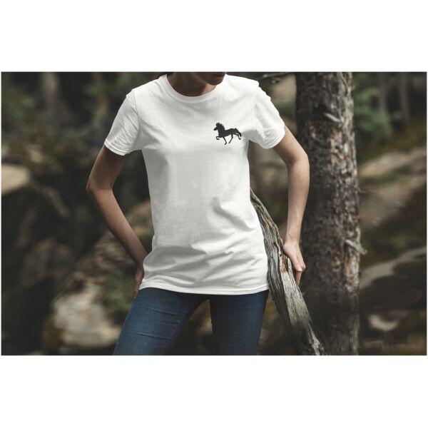 Tshirt wit Ijslandse paard