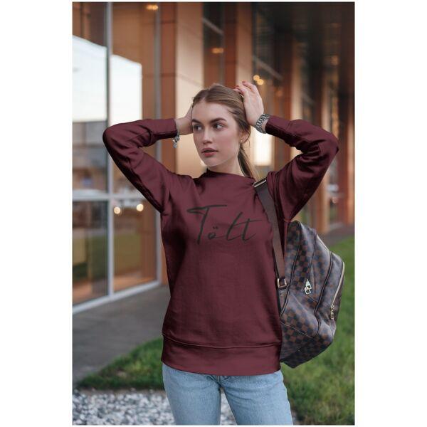 Sweater bordeaux rood Ijslandse paard Tolt