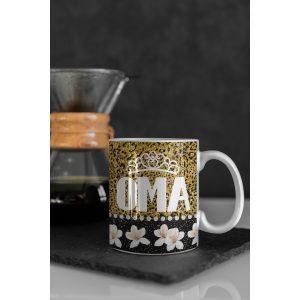Mok Oma met kroon Glitter collectie 18