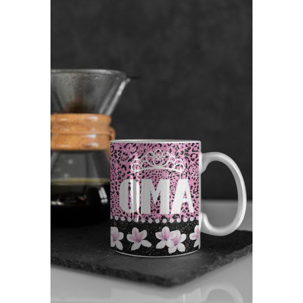 Mok Oma met kroon Glitter collectie 2