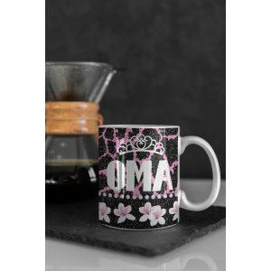 Mok Oma met kroon Glitter collectie 1