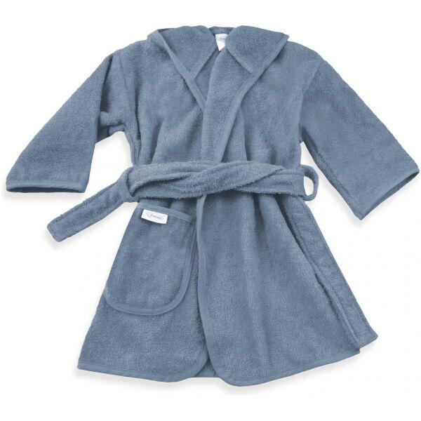 Badjas grijs blauw met naam