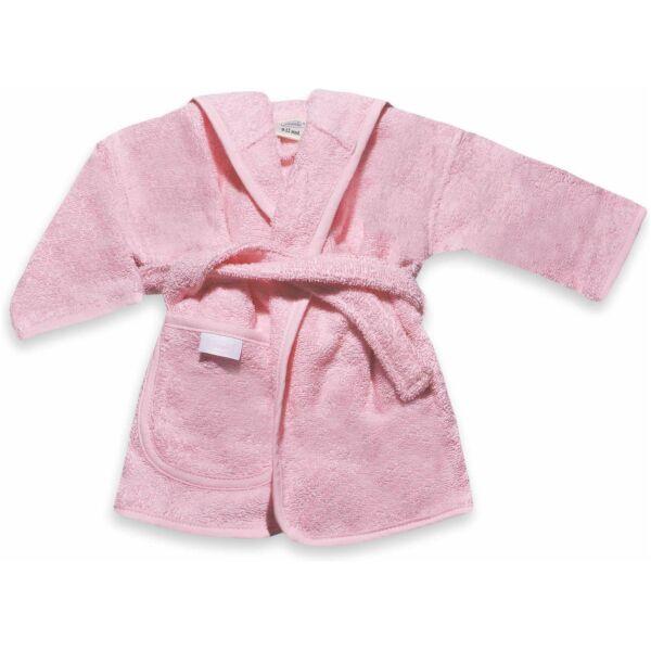 badjas met naam baby roze