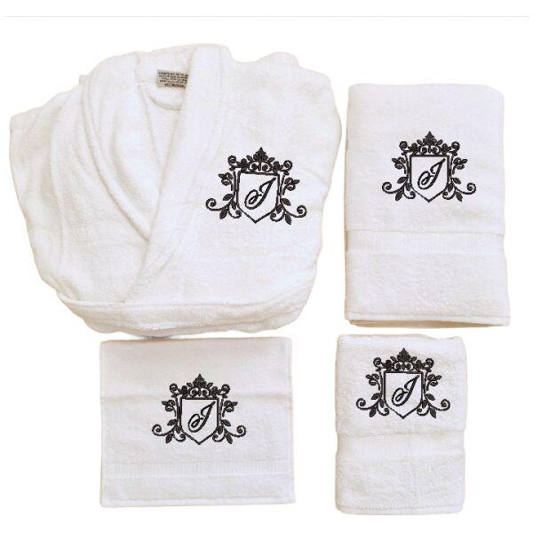 Badjas Set met monogram J royal