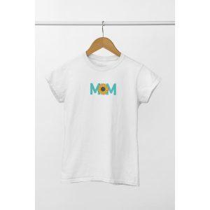 tshirt oversized wit mom zonnebloem