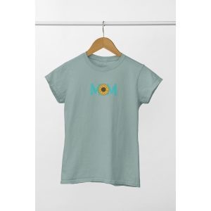 tshirt oversized sage mom zonnebloem