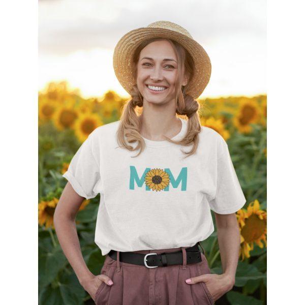 tshirt oversized wit mom zonnebloem 2