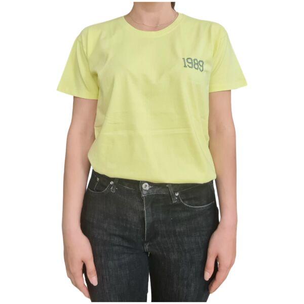 Organic oversized tshirt lime geboortejaar