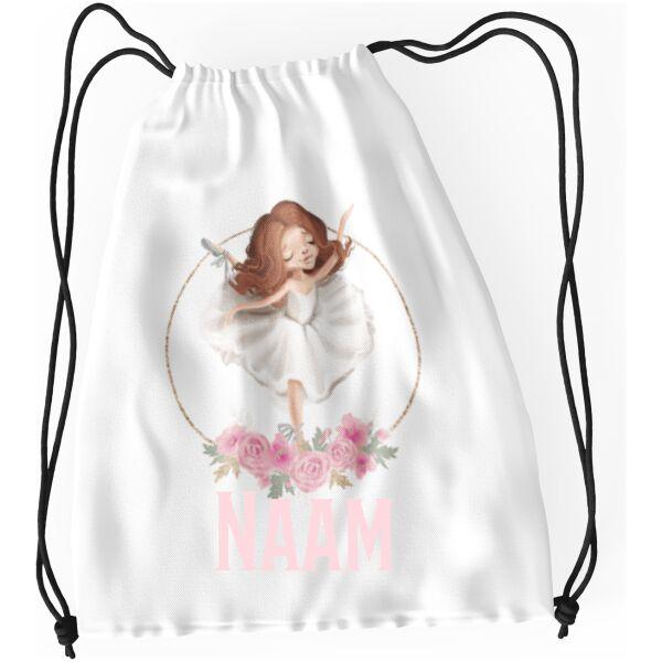 Gymtasje met koordjes ballerina 1